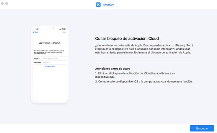 desbloquear iCloud - 4mekey