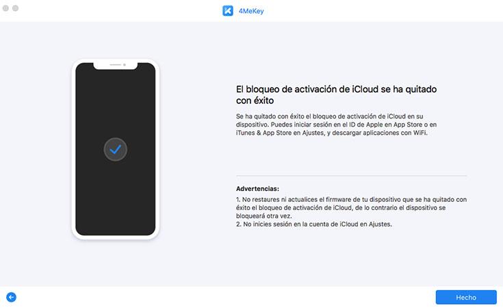 eliminar bloqueo de activación iCloud con éxito - guía de 4mekey