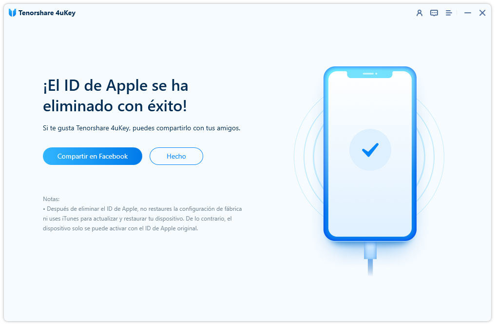 remove apple id successfully