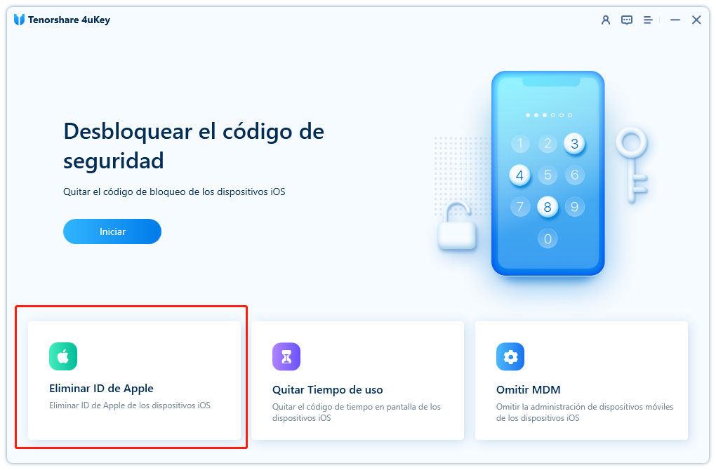 opción eliminar id apple