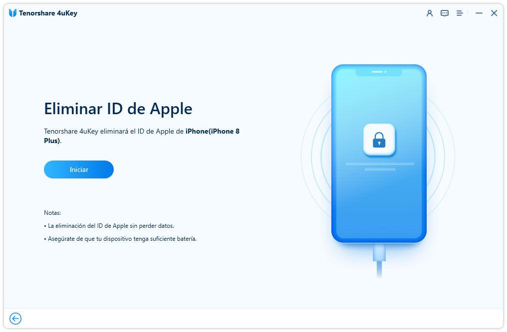 empezar eliminar apple id