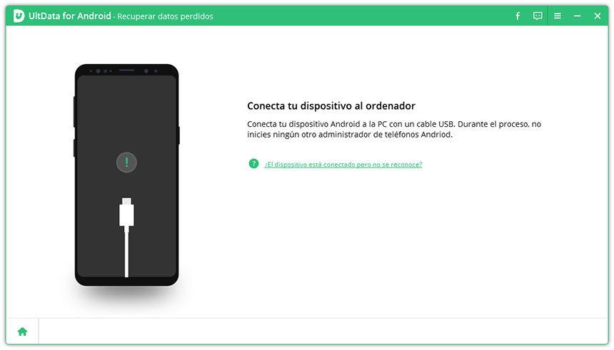conecta dispositivo a ultdata android