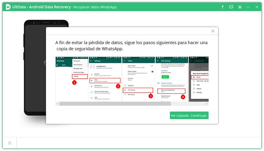 hacer copia de seguridad de whatsapp