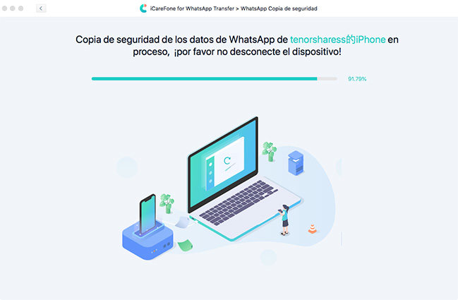 restaurar copia de seguridad de whatsapp por icarefone transferencia de whatsapp