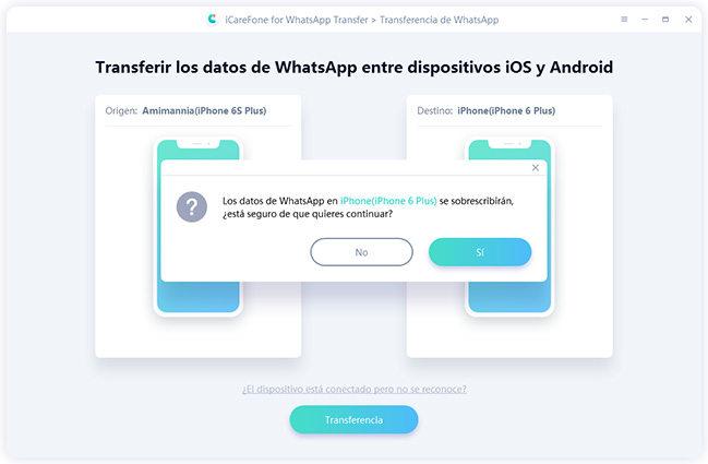 transferir datos entre dos iphones