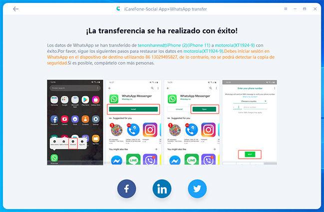 transferir whatsapp de iphone a android con éxito