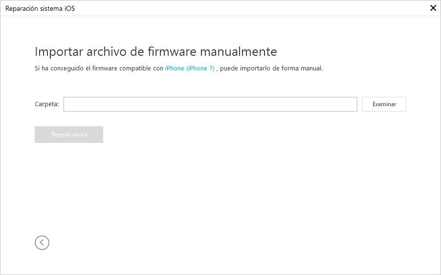 importar firmware manualmente