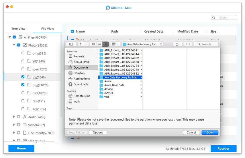 empieza a recuperar datos mac mediante ultdata