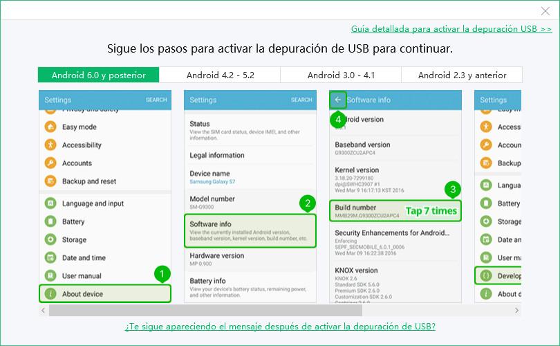 depuración usb android 6.0