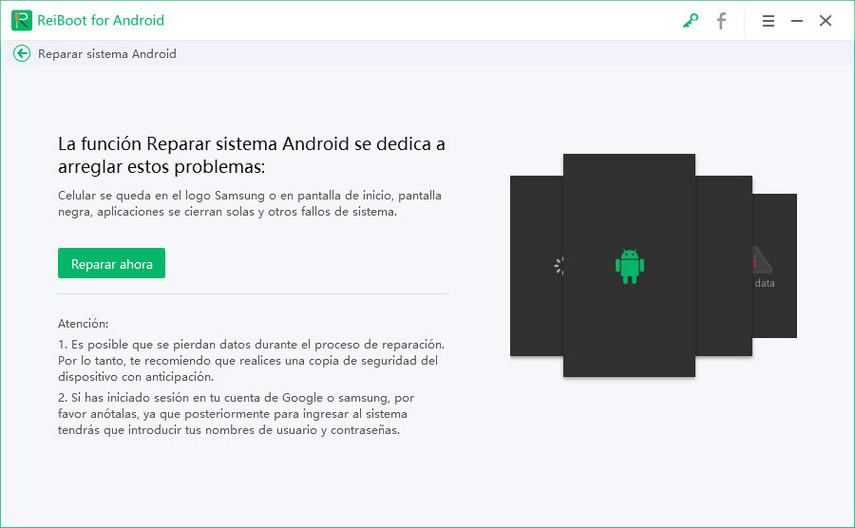 reparar android ahora