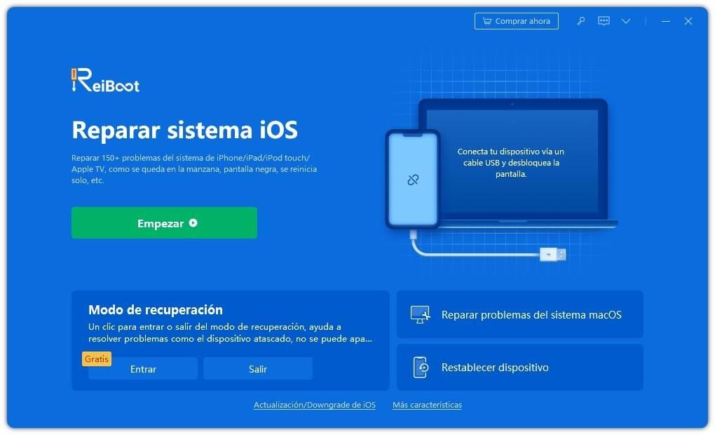 conecta iphone al reiboot