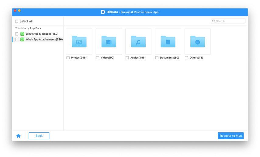 vista previa de archivos del respaldo
