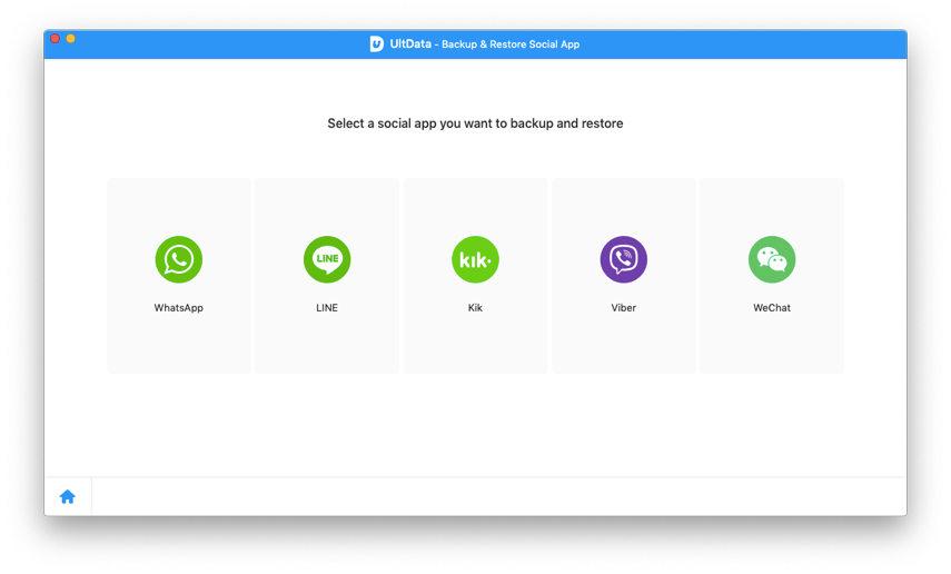 selecciona una app social