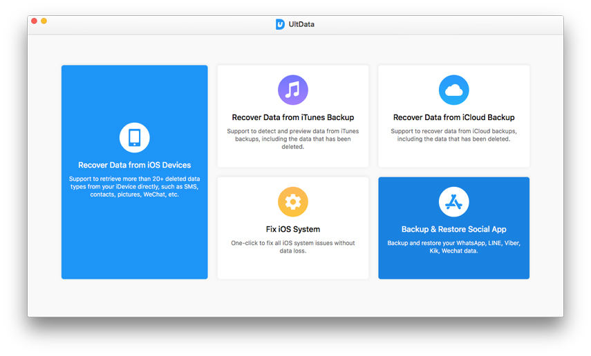 elige la función Respaldar & Restaurar App Social
