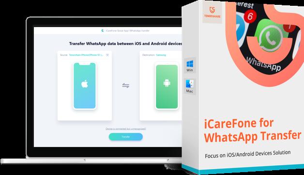Tenorshare iCareFone para WhatsApp transferencia