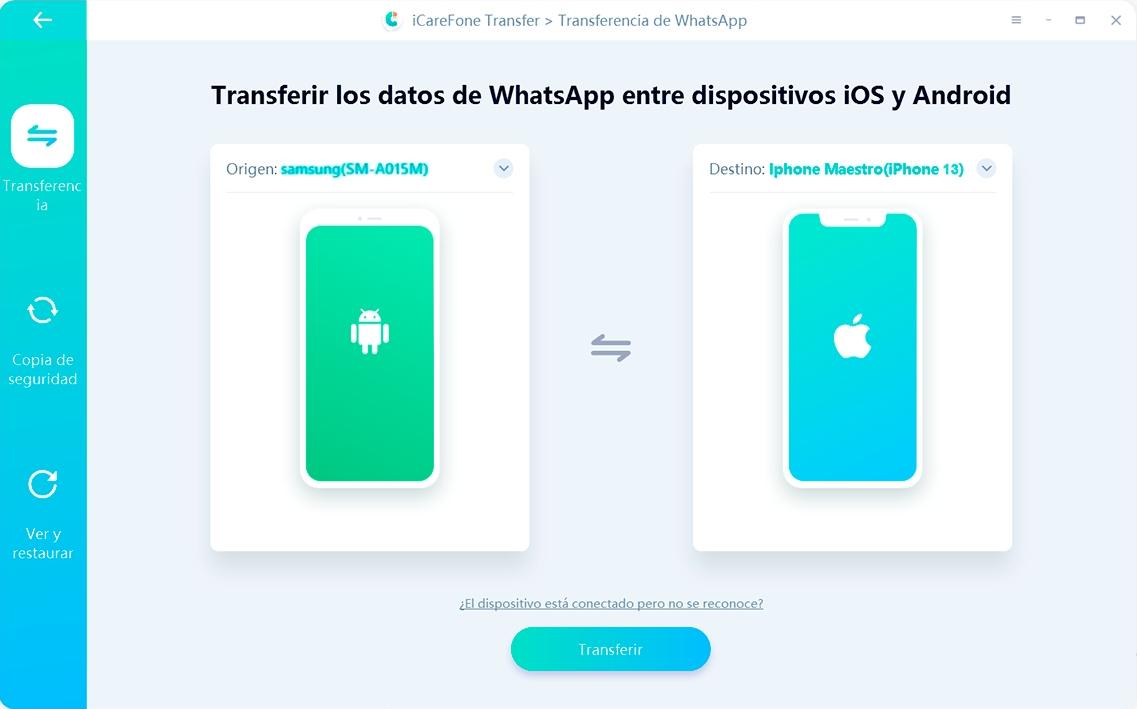 Tenorshare iCareFone descargado para WhatsApp transferencia - guía