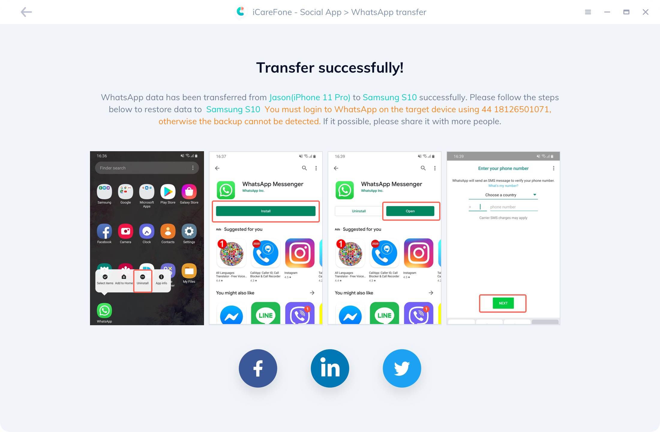 Transferir mensajes de WhatsApp con éxito - guía