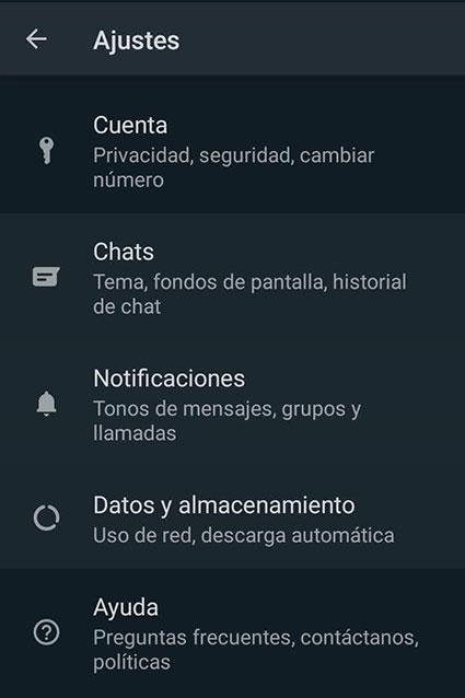 abrir ventana chats para hacer un respaldo de chats whatsapp